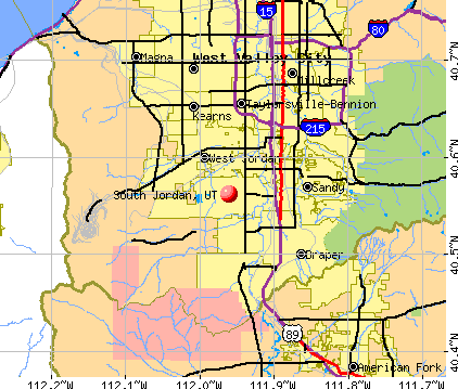 South Jordan, UT map