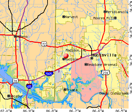 Madison, AL map