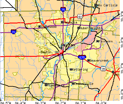 Dayton, OH map