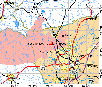Fort Bragg, NC map