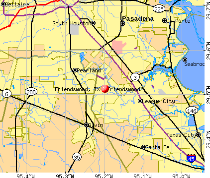 Friendswood, TX map