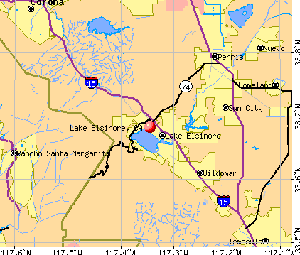 Lake Elsinore, CA map