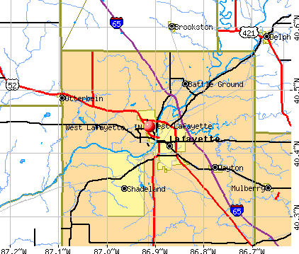 West Lafayette, IN map