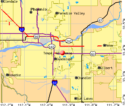 Tempe, AZ map