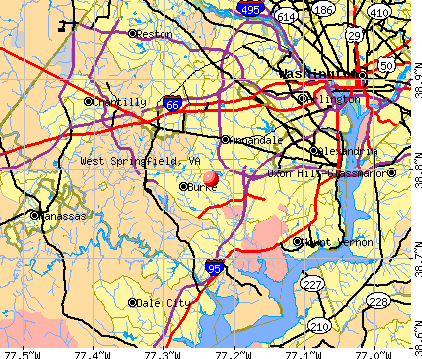 West Springfield, VA map