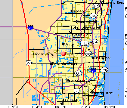 Cooper City, FL map