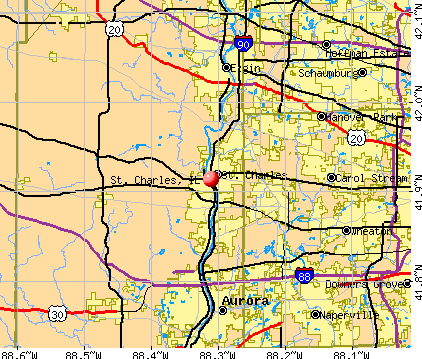 St. Charles, IL map