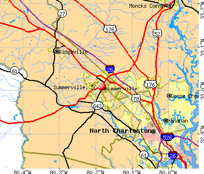 Summerville, SC map
