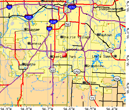 Leawood, KS map