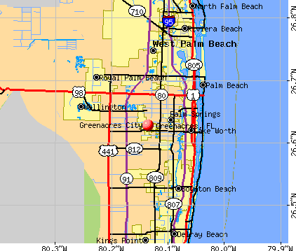 Greenacres, FL map