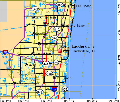 Fort Lauderdale, FL map