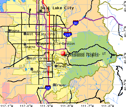 Cottonwood Heights, UT map