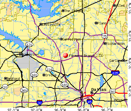 Farmers Branch, TX map