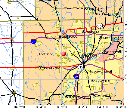 Trotwood, OH map