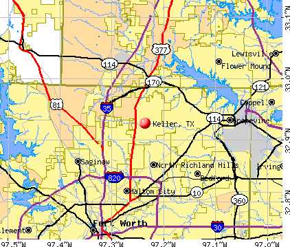 Keller, TX map