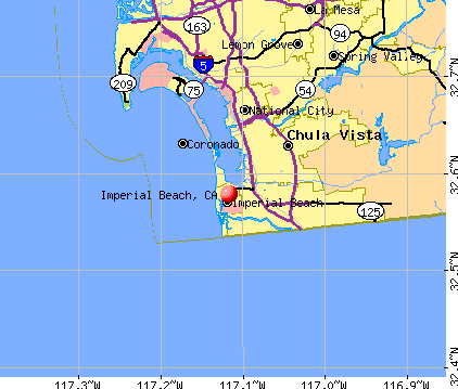 Imperial Beach, CA map