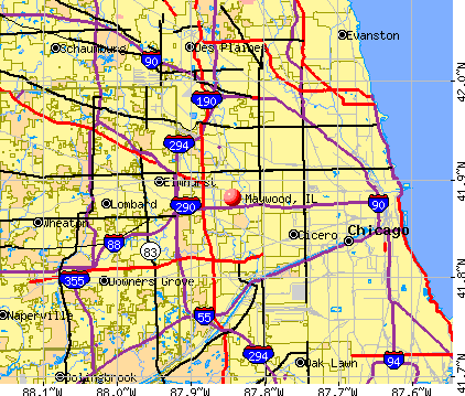 Maywood, IL map