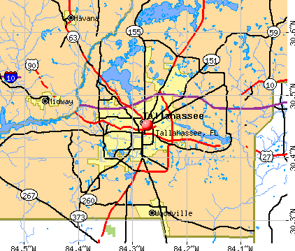 Tallahassee, FL map