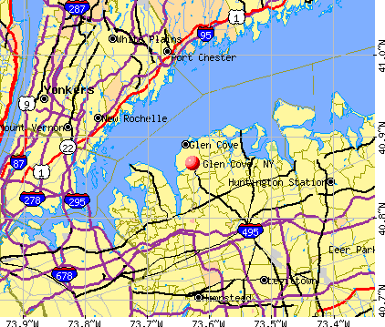 Glen Cove, NY map