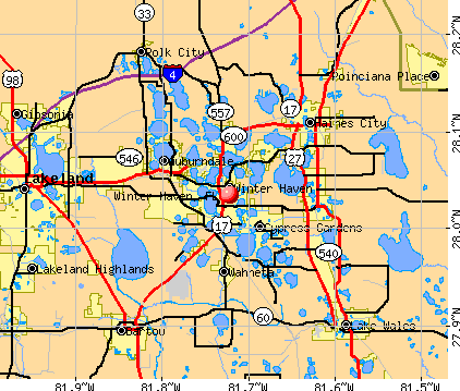 Winter Haven, FL map