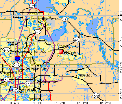 Oviedo, FL map
