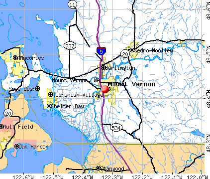 Vernon Washington Mount Vernon WA map