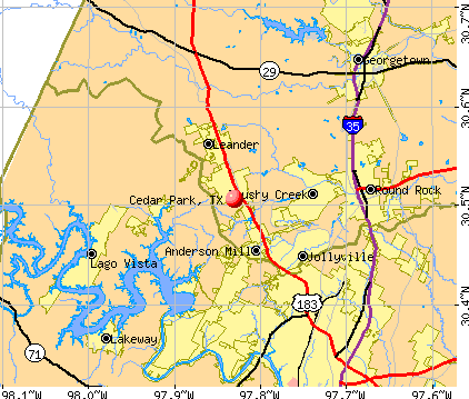 Cedar Park, TX map