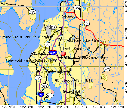 North Creek, WA map