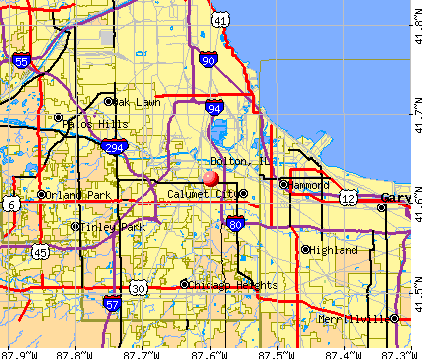 Dolton, IL map