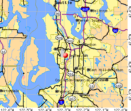 SeaTac, WA map