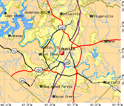 Austin, TX map