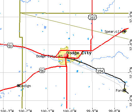Dodge City, KS map