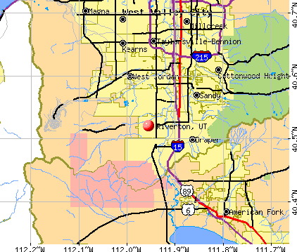 Riverton, UT map