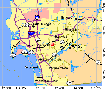 Lemon Grove, CA map