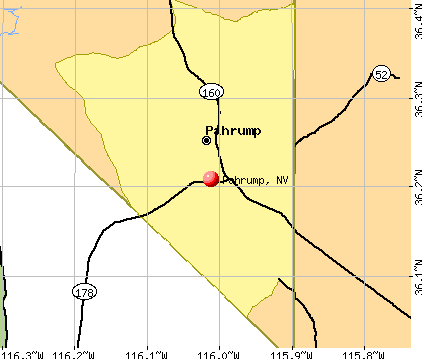 Pahrump, NV map