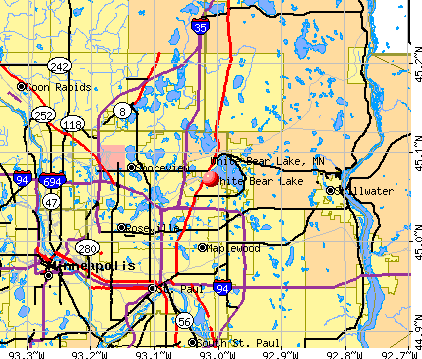 White Bear Lake, MN map