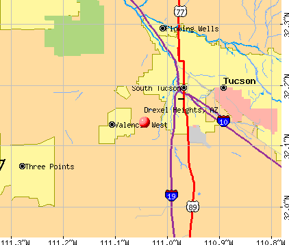 Drexel Heights, AZ map