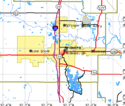 Ardmore, OK map