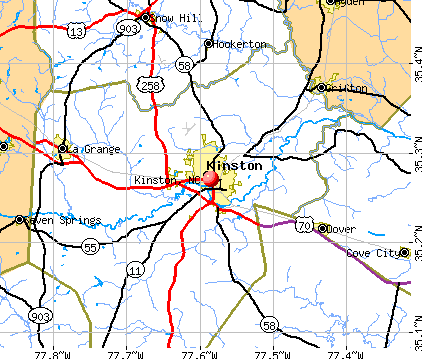 Kinston, NC map