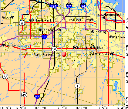 Park Forest, IL map
