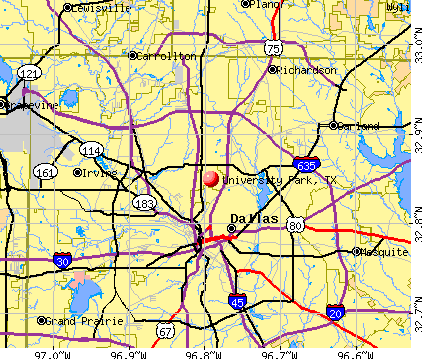 University Park, TX map