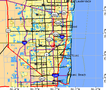 Norland, FL map