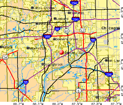Darien, IL map