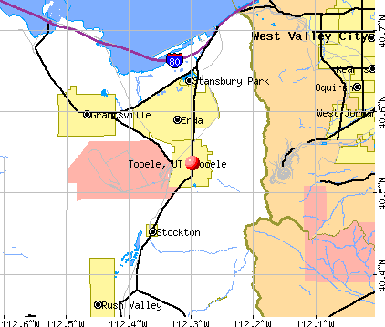 Tooele, UT map