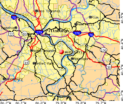 West Mifflin, PA map