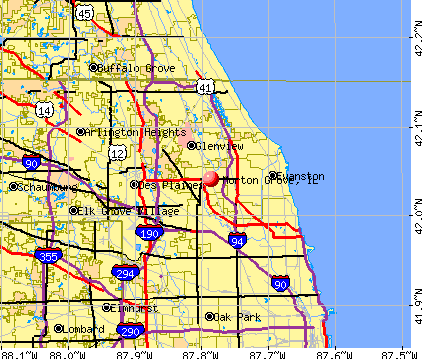 Morton Grove, IL map