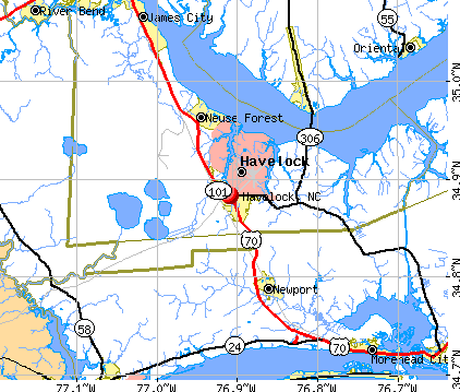 Havelock, NC map