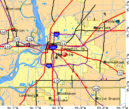 Memphis, TN map