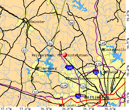 Reisterstown, MD map