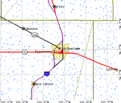 Plainview, TX map